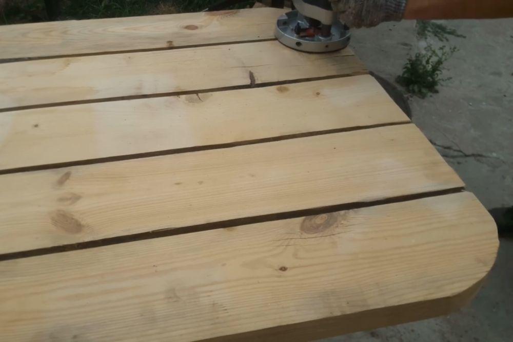 Процесс изготовления деревянного стола шаг 19