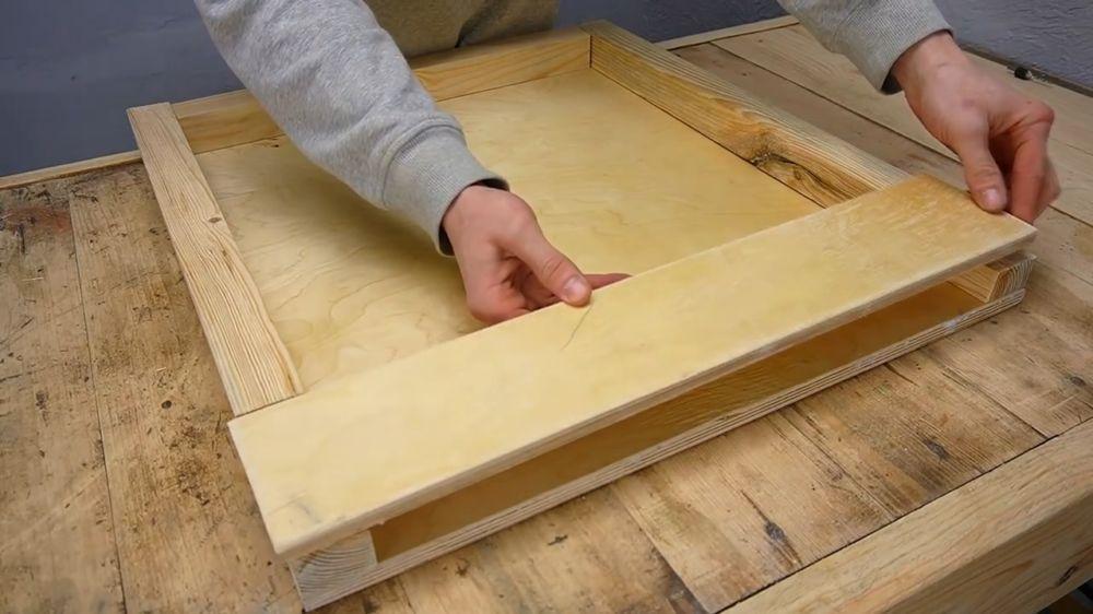 Процесс изготовления ручной бетономешалки шаг 20