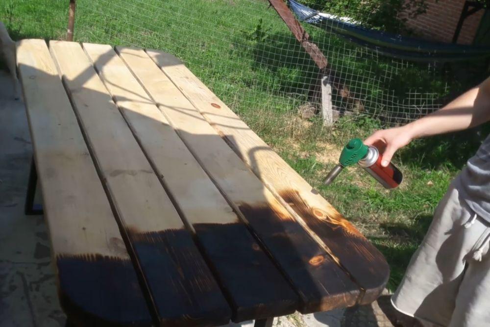 Процесс изготовления деревянного стола шаг 20