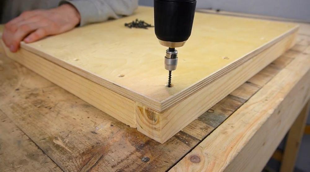 Процесс изготовления ручной бетономешалки шаг 21
