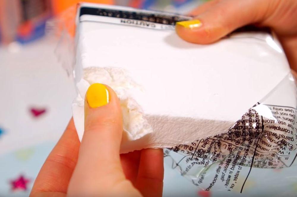 Процесс изготовления слайма из мыла шаг 22