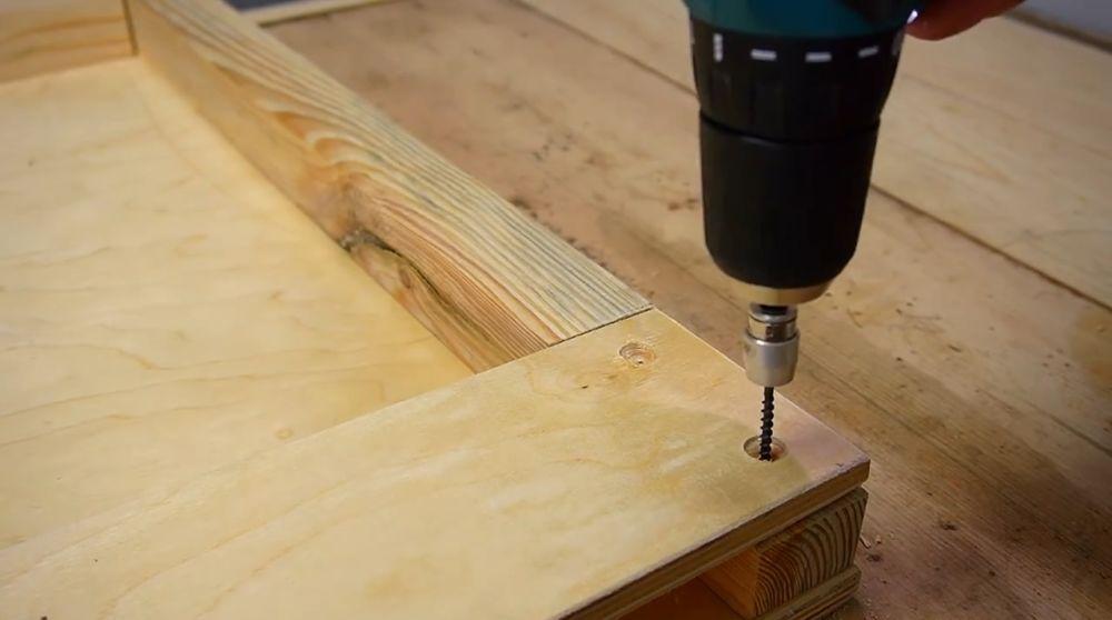 Процесс изготовления ручной бетономешалки шаг 22