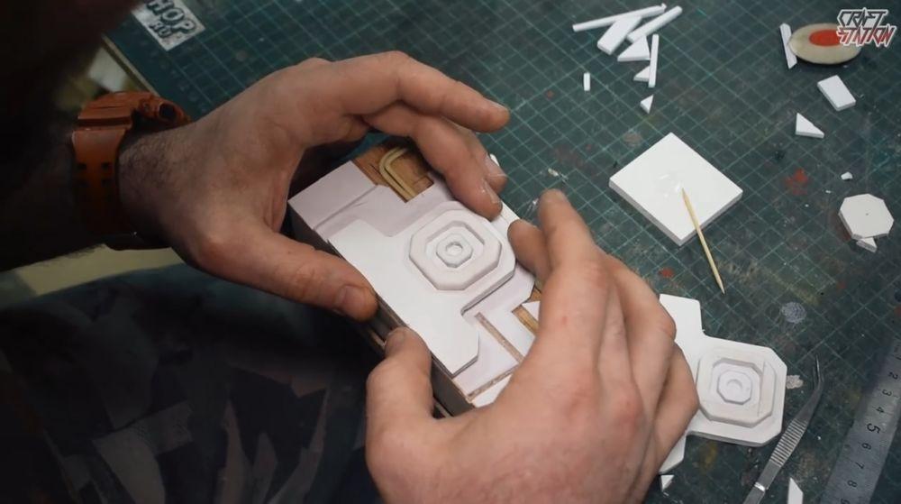 Процесс изготовления винтовки мондалорца шаг 22
