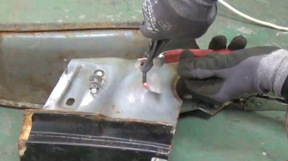 Процесс изготовления точечной сварки шаг 21