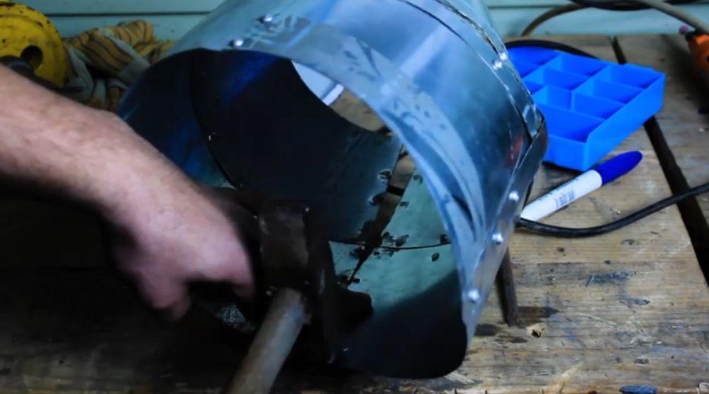 Процесс изготовления шлема рыцаря-крестоносца шаг 23