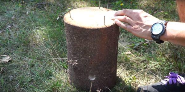 Процесс изготовления финской свечи шаг 23