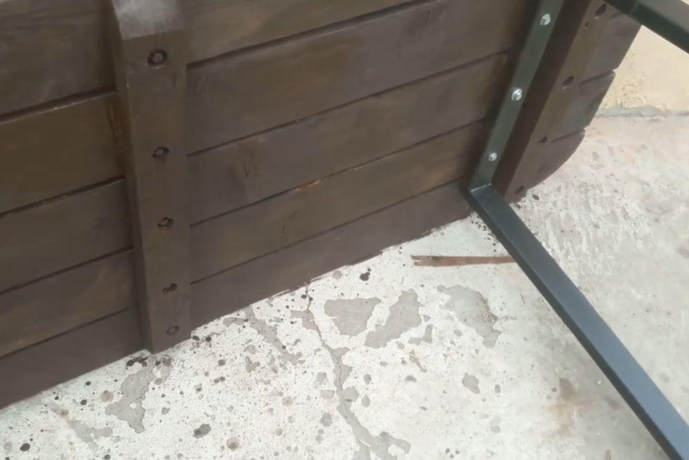 Процесс изготовления деревянного стола шаг 23