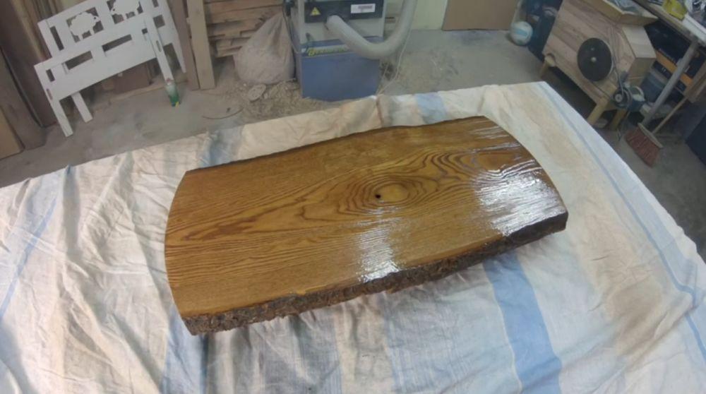 Лакировка деревянной заготовки