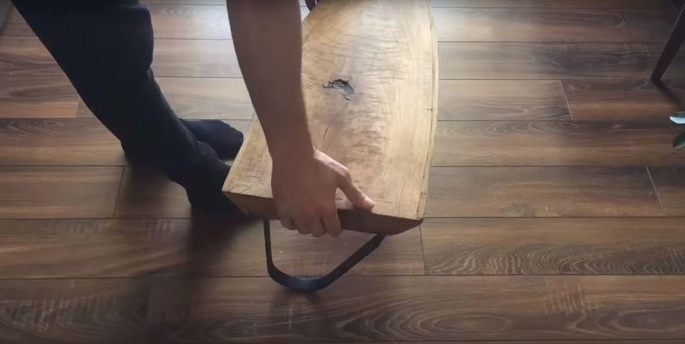 Процесс изготовления журнального столика лофт шаг 24