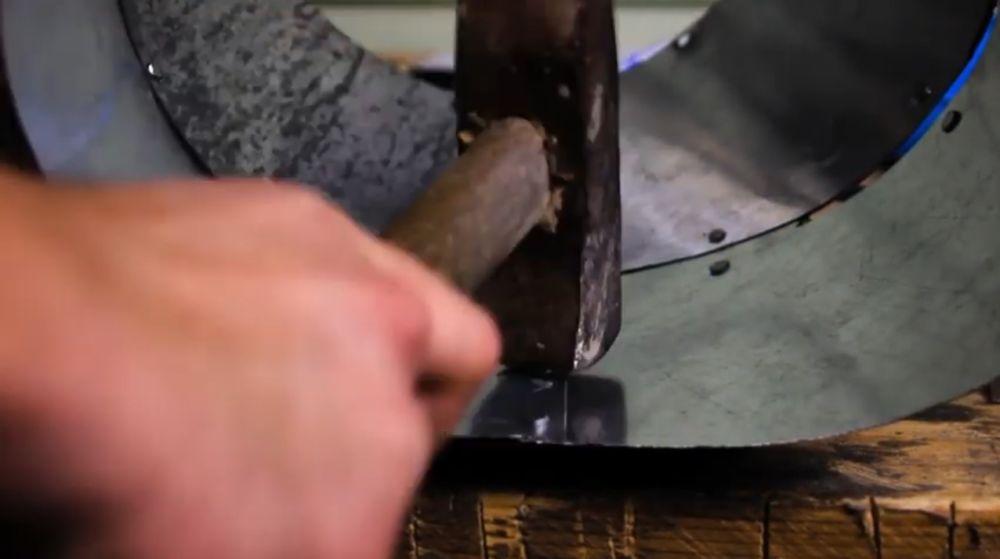 Процесс изготовления шлема рыцаря-крестоносца шаг 24