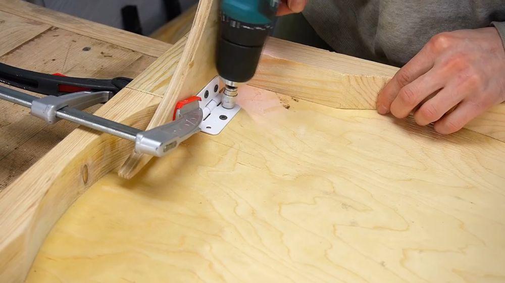 Процесс изготовления ручной бетономешалки шаг 24