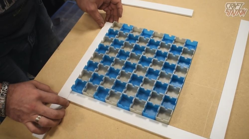 Процесс изготовления шахмат из эпоксидной смолы шаг 25