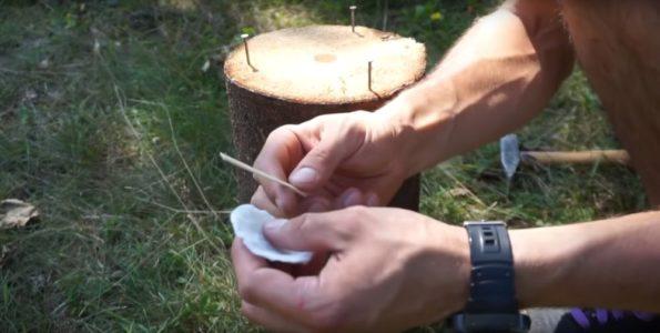 Процесс изготовления финской свечи шаг 24