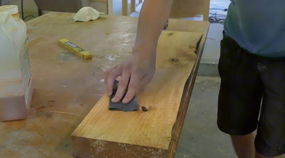 Шлифовка промежуточного слоя отделки