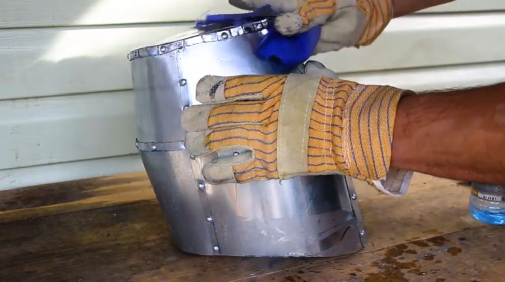Процесс изготовления шлема рыцаря-крестоносца шаг 25