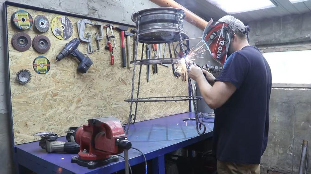 Процесс изготовления мангала гриля шаг 25