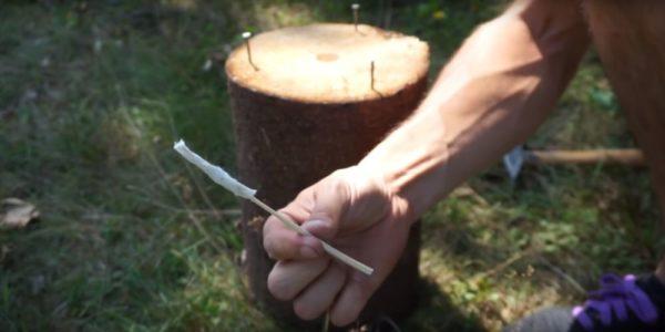 Процесс изготовления финской свечи шаг 25