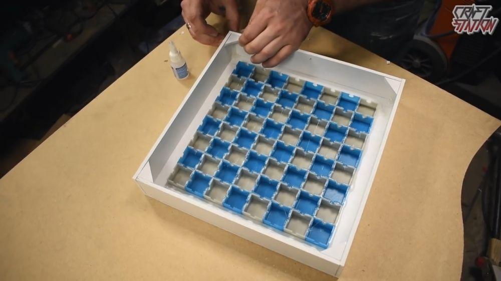 Процесс изготовления шахмат из эпоксидной смолы шаг 27