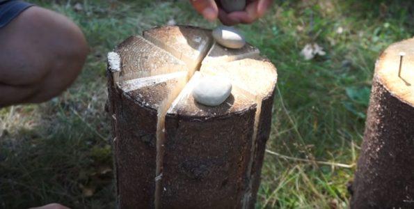 Процесс изготовления финской свечи шаг 26