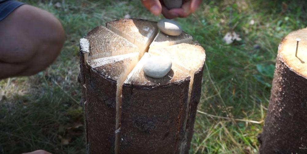 Процесс изготовления финской свечи шаг 22