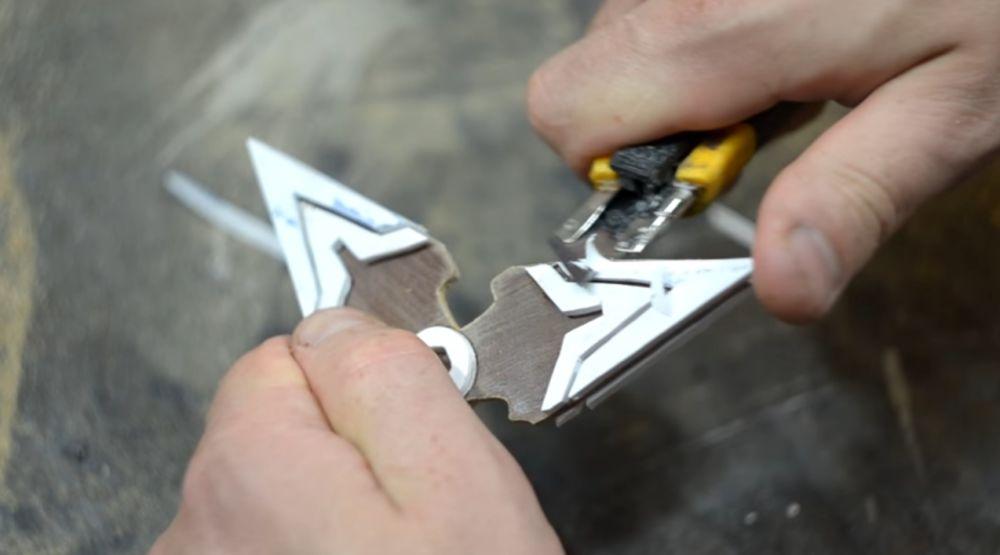 Заточка пластика ножом