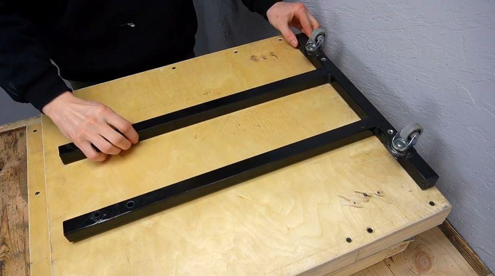 Процесс изготовления ручной бетономешалки шаг 27