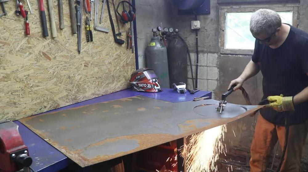 Процесс изготовления мангала гриля шаг 27