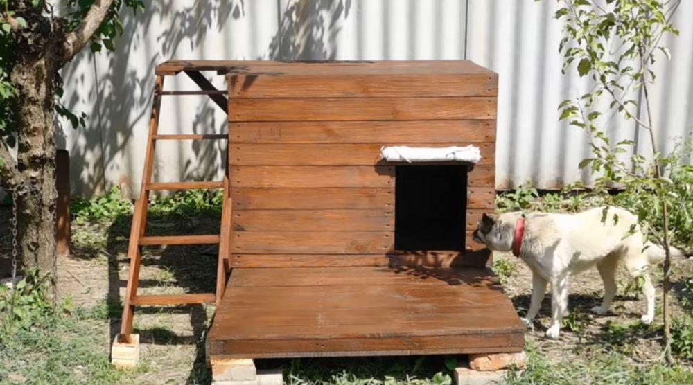 Готовая собачья будка