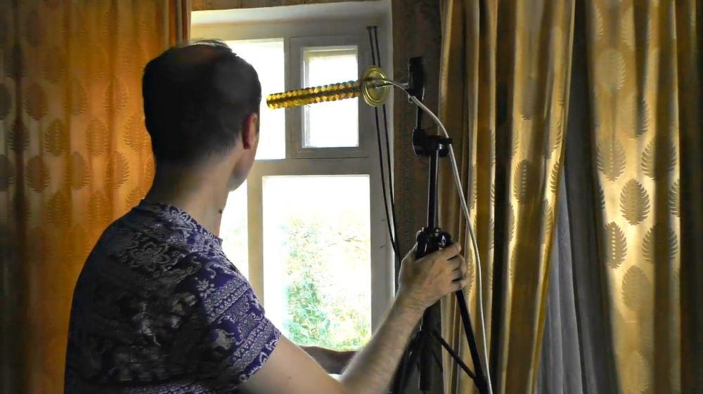 Антенну располагаем в зоне с минимальными потерями сигнала
