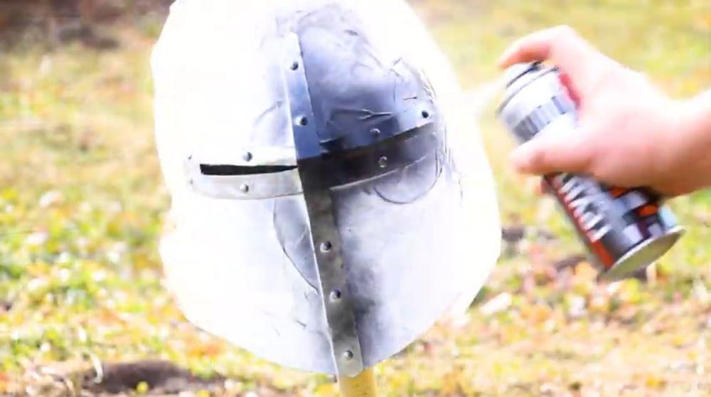 Процесс изготовления шлема рыцаря-крестоносца шаг 28