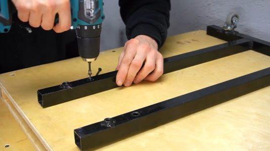 Процесс изготовления ручной бетономешалки шаг 28