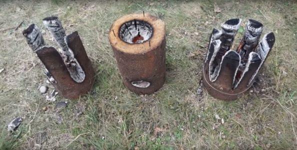 Процесс изготовления финской свечи шаг 29