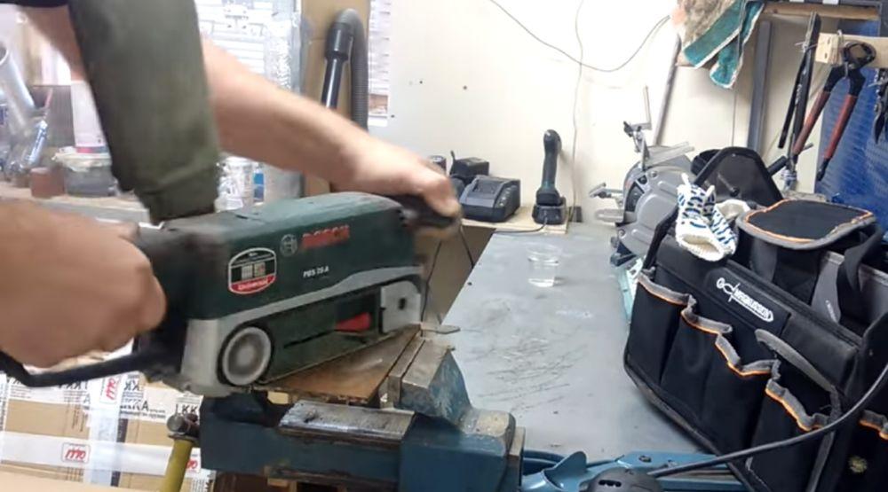 Шлифовка платформы для магнита