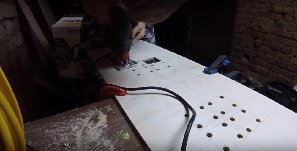 Процесс изготовления домика для барби шаг 3