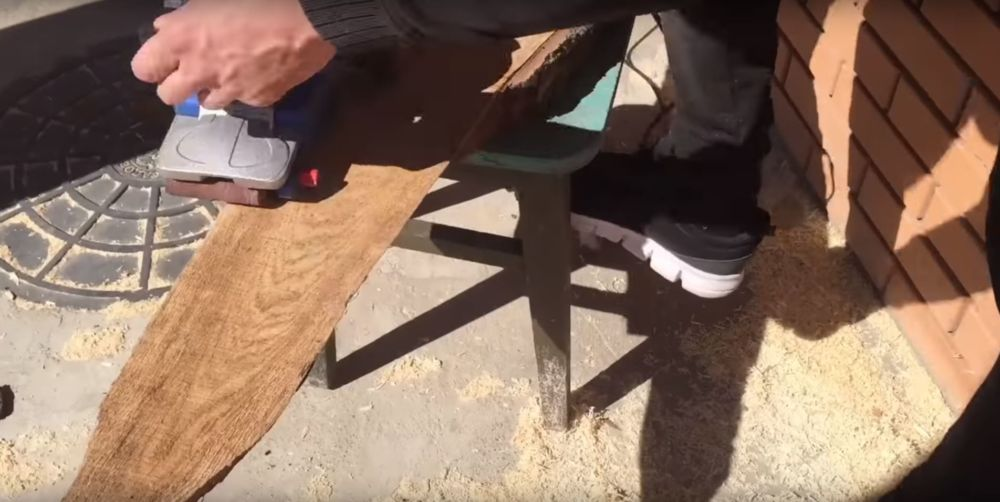Процесс изготовления журнального столика лофт шаг 3