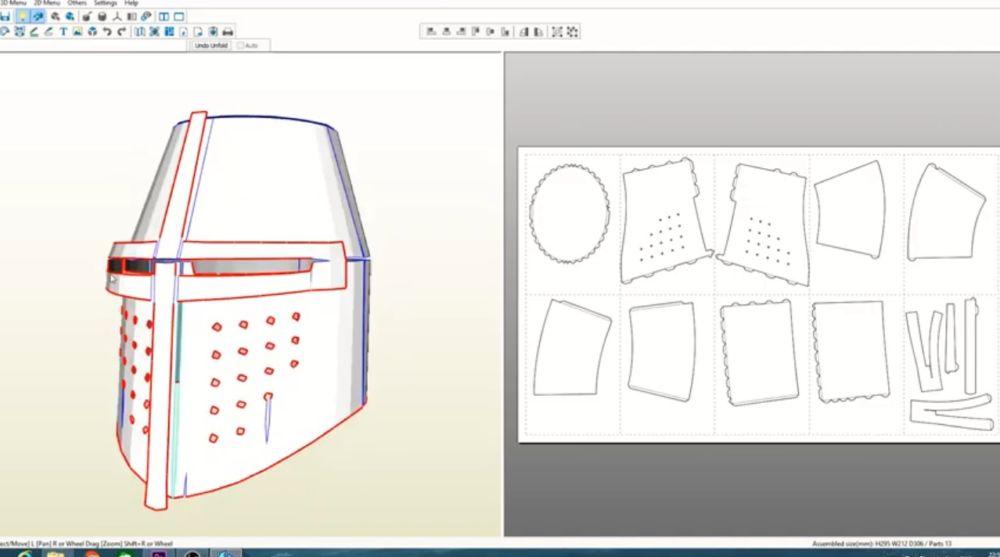 Процесс изготовления шлема рыцаря-крестоносца шаг 2