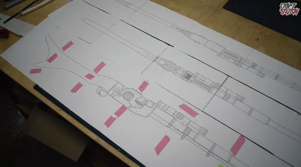 Процесс изготовления винтовки мандалорца шаг 3