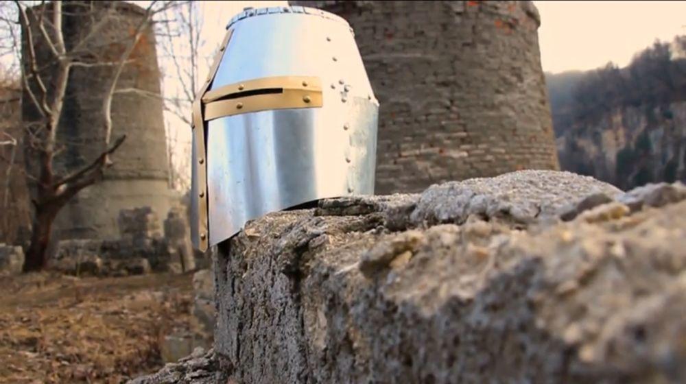 Процесс изготовления шлема рыцаря-крестоносца шаг 30