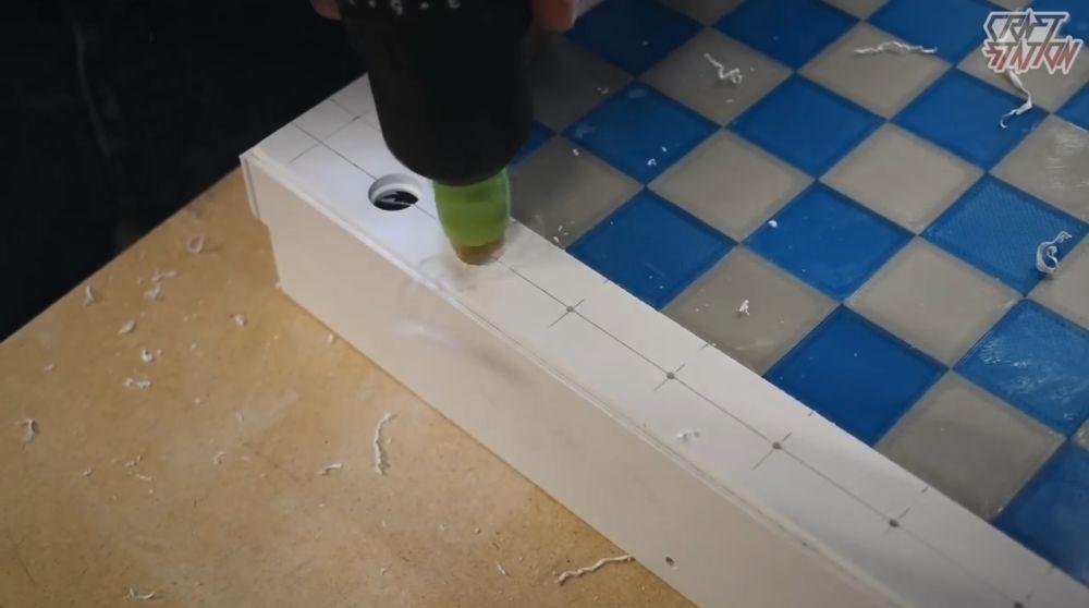 Процесс изготовления шахмат из эпоксидной смолы шаг 31