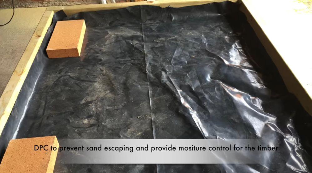 Гидроизоляция стола под печь