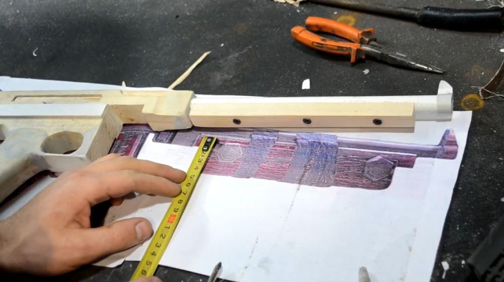 Вымеряем размер цевья