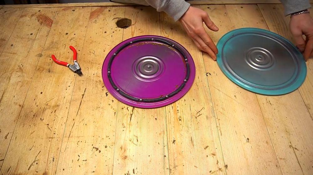Процесс изготовления ручной бетономешалки шаг 31