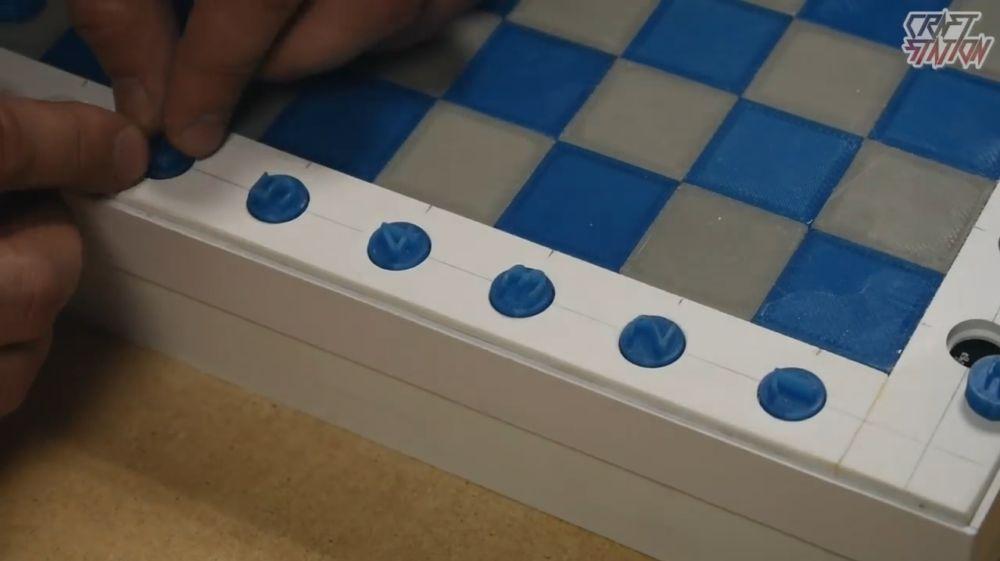 Процесс изготовления шахмат из эпоксидной смолы шаг 32