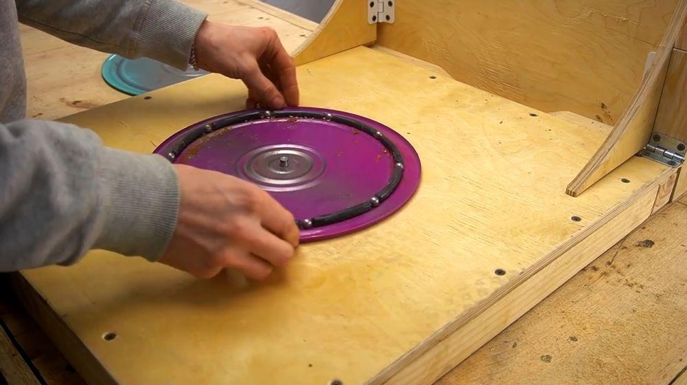 Процесс изготовления ручной бетономешалки шаг 32