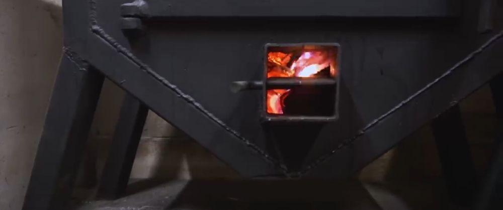 Растопленная печь