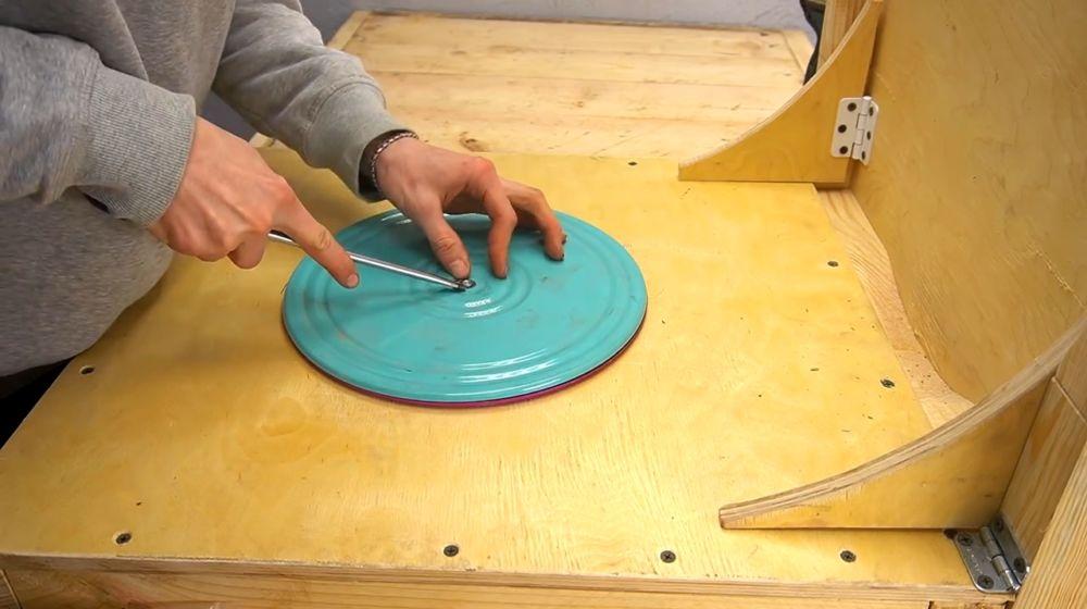 Процесс изготовления ручной бетономешалки шаг 34