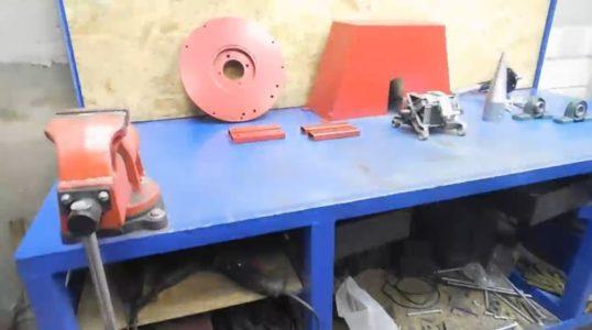 Отделка деталей дровокола