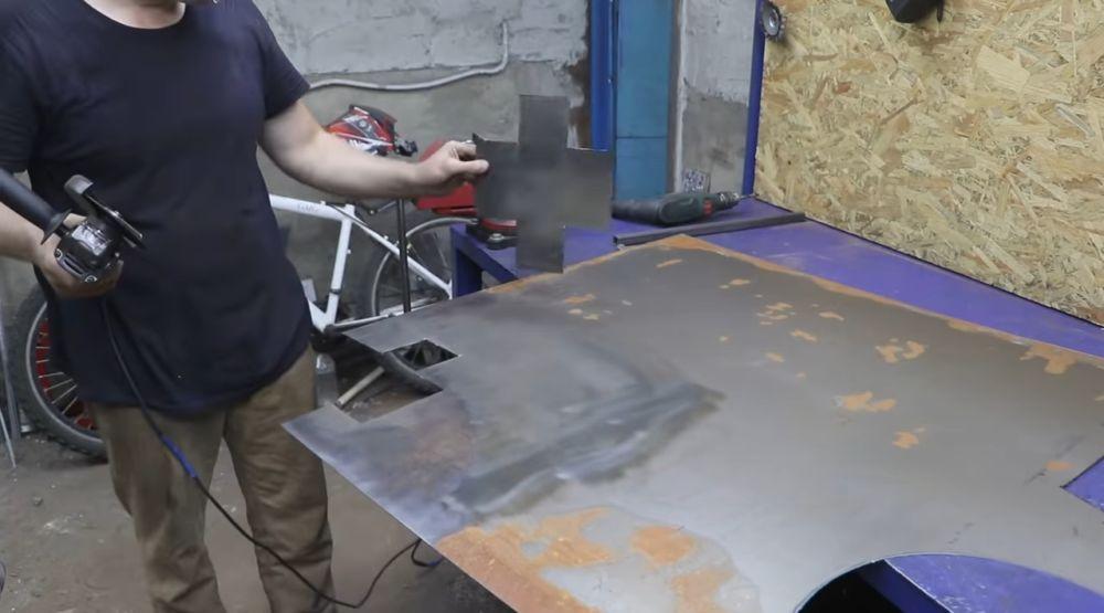 Процесс изготовления мангала гриля шаг 36
