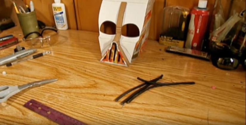 Процесс изготовления шлема дарта вейдера шаг 36