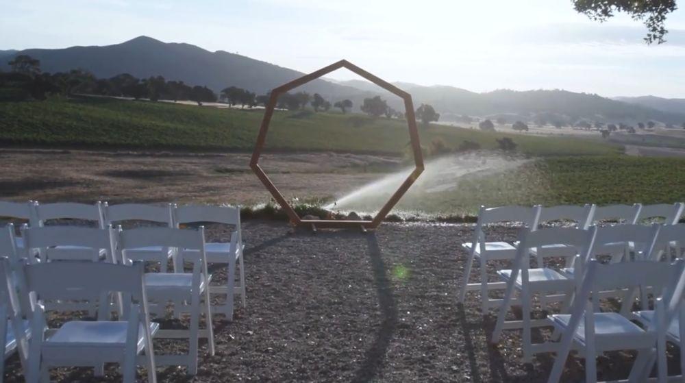 Вид арки на месте церемонии